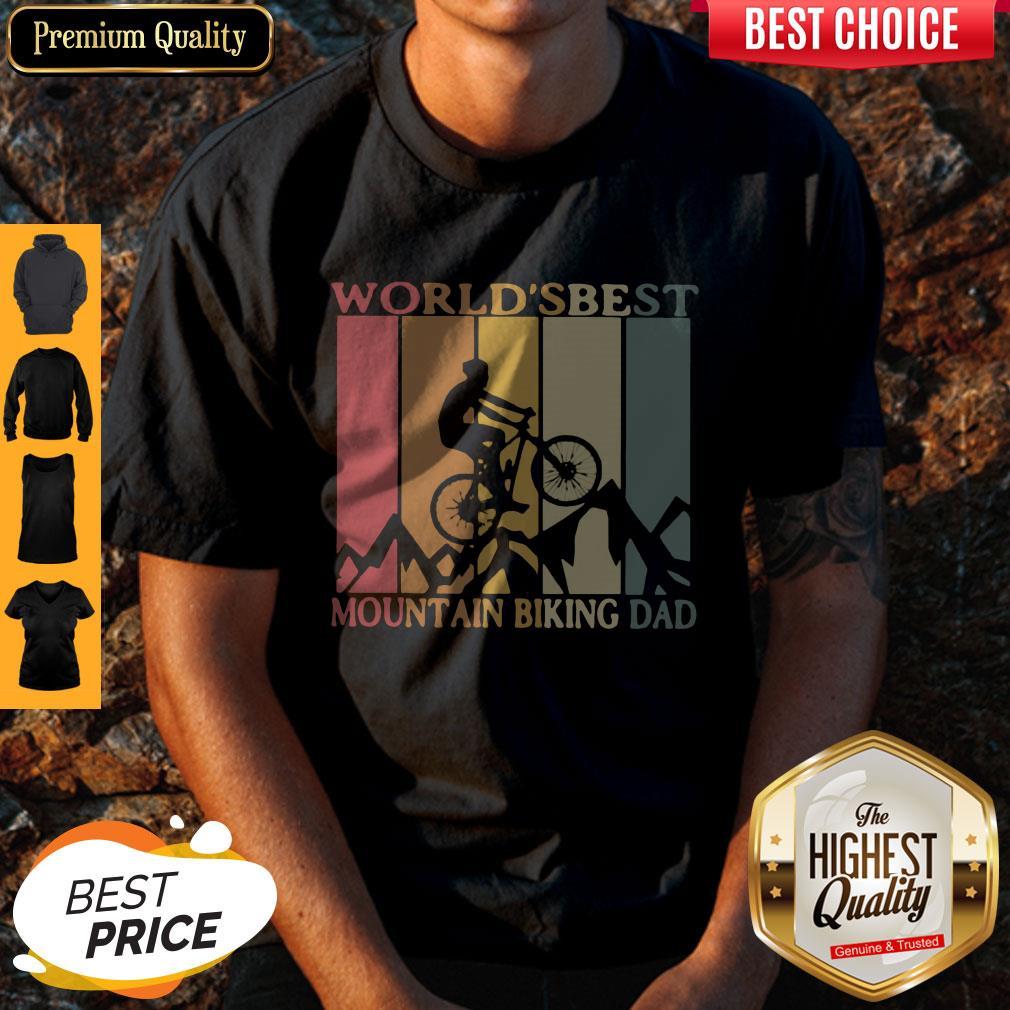Nice World's Best Mountain Biking Dad Classic Shirt