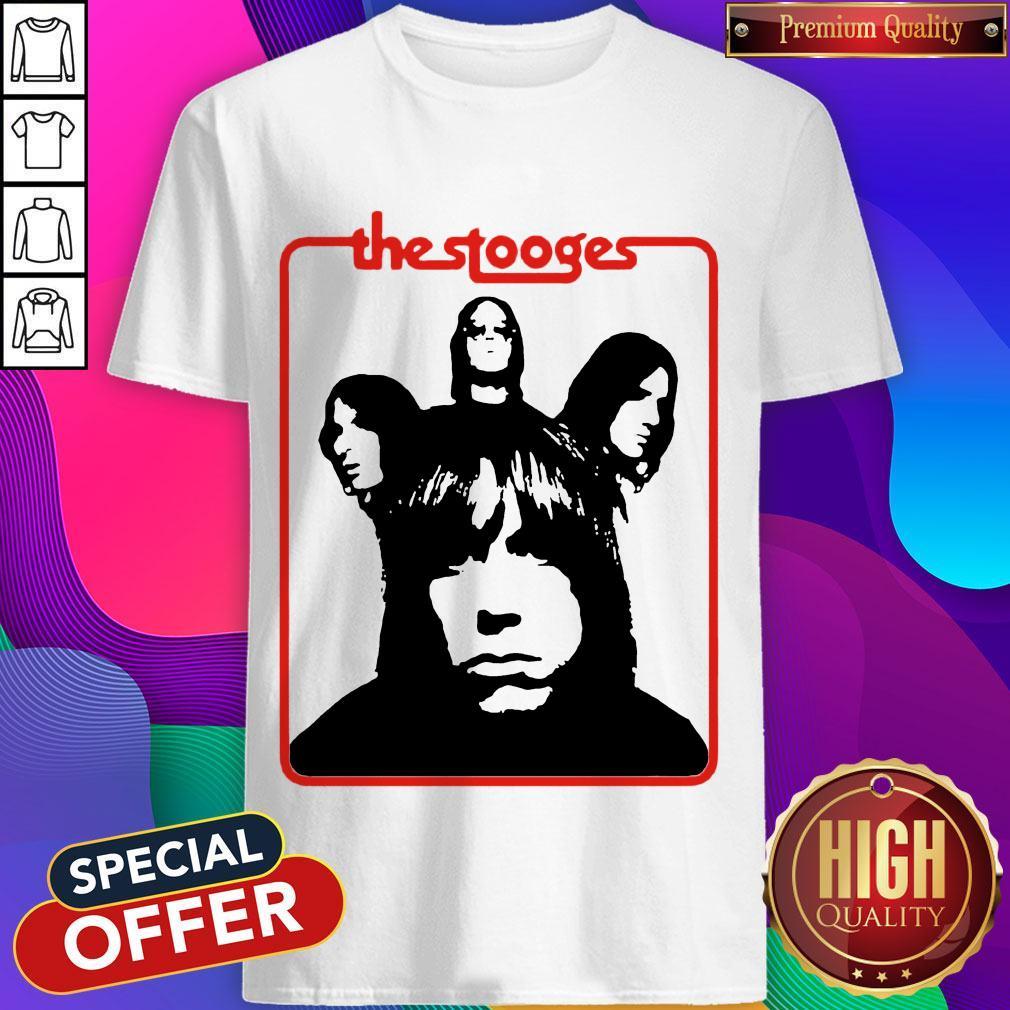 Official The Stooges Iggy Pop Rock Band Shirt