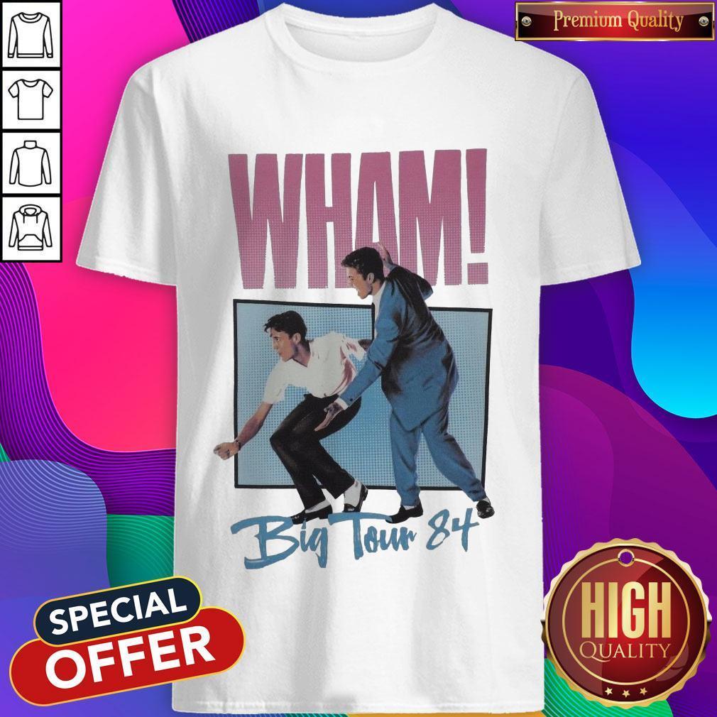 Official Wham Big Tour 84 George Michael Shirt
