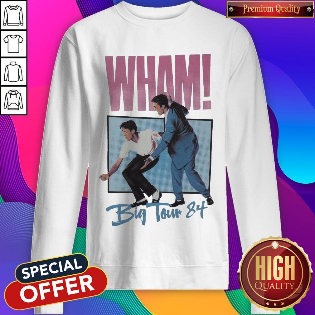 Official Wham Big Tour 84 George Michael Sweatshirt