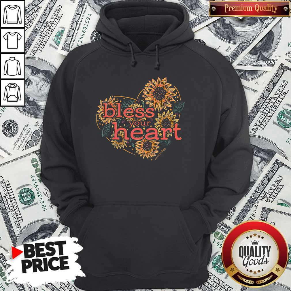 Premium Bless Your Heart Sunflowers Short Sleeve Hoodie