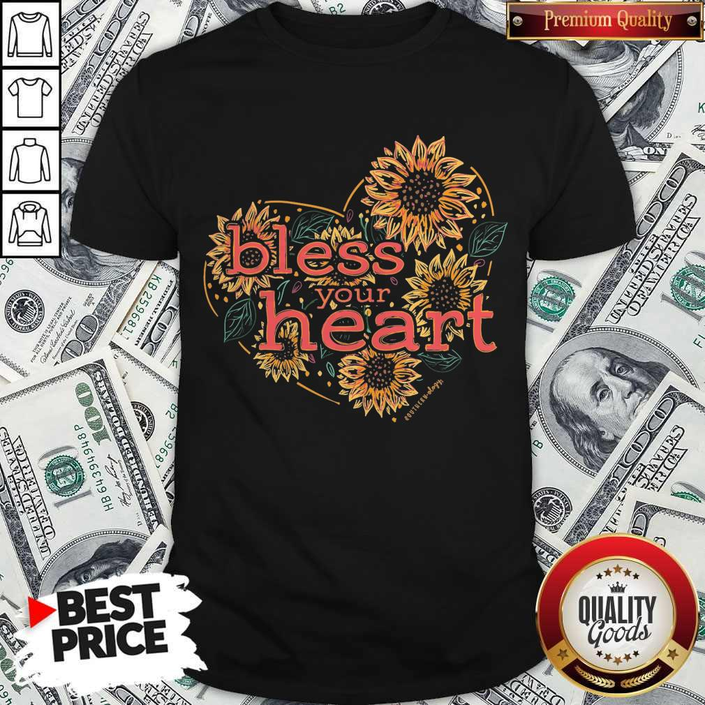 Premium Bless Your Heart Sunflowers Short Sleeve Shirt