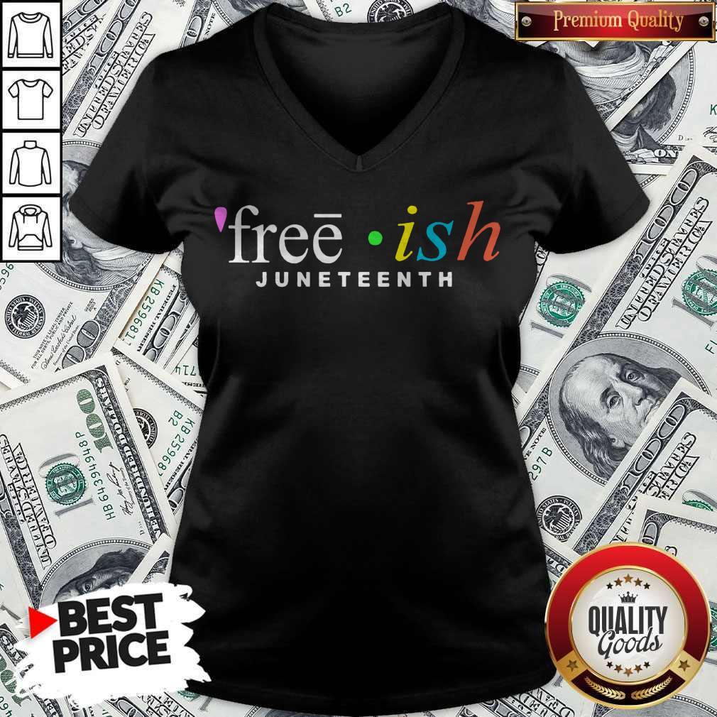 Premium Free Ish Juneteenth V-neck