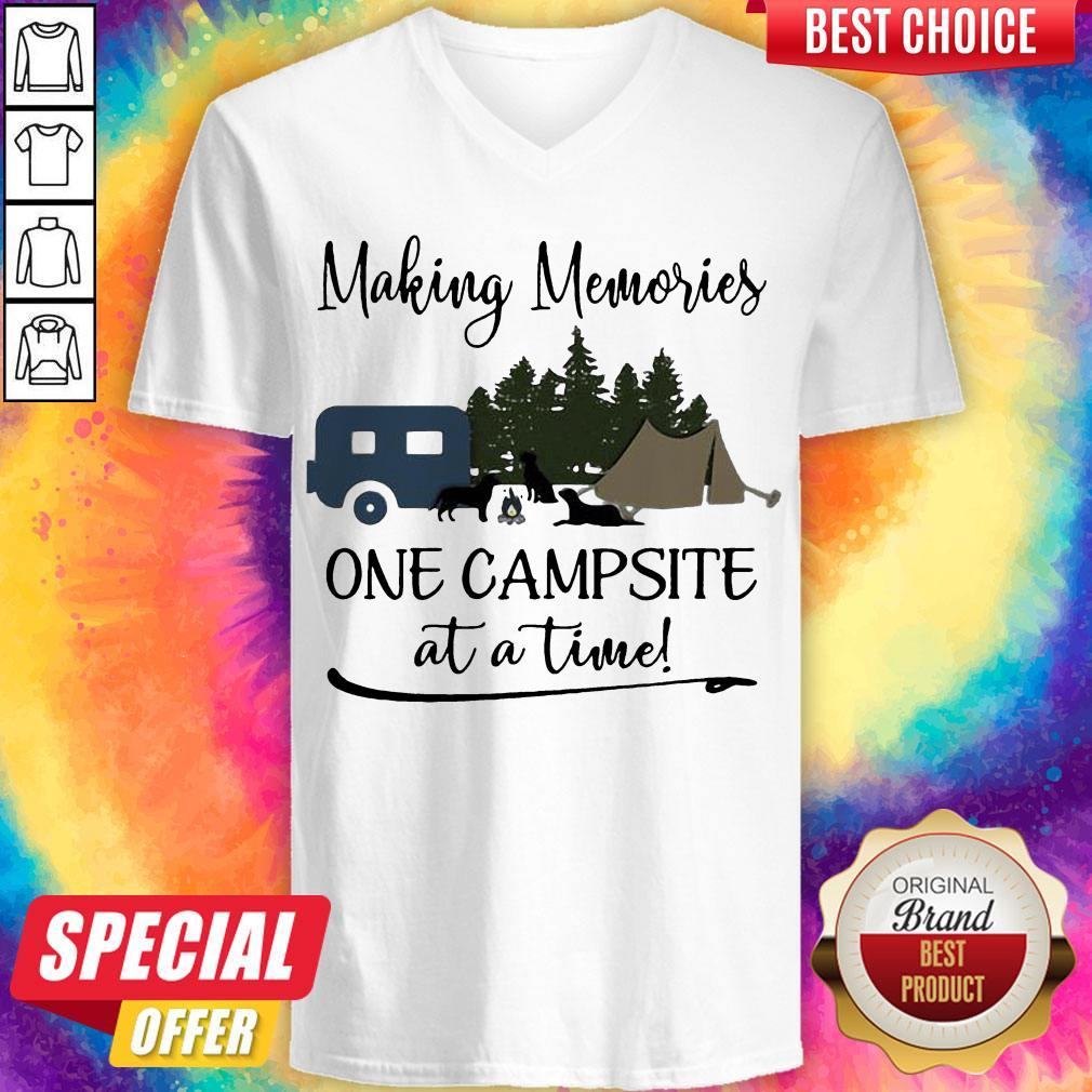 Premium Making Memories One Campsite At A Time V-neck