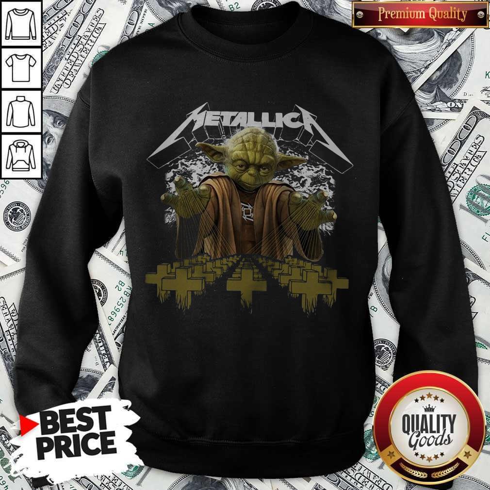 Premium Master Yoda Metallica Sweatshirt
