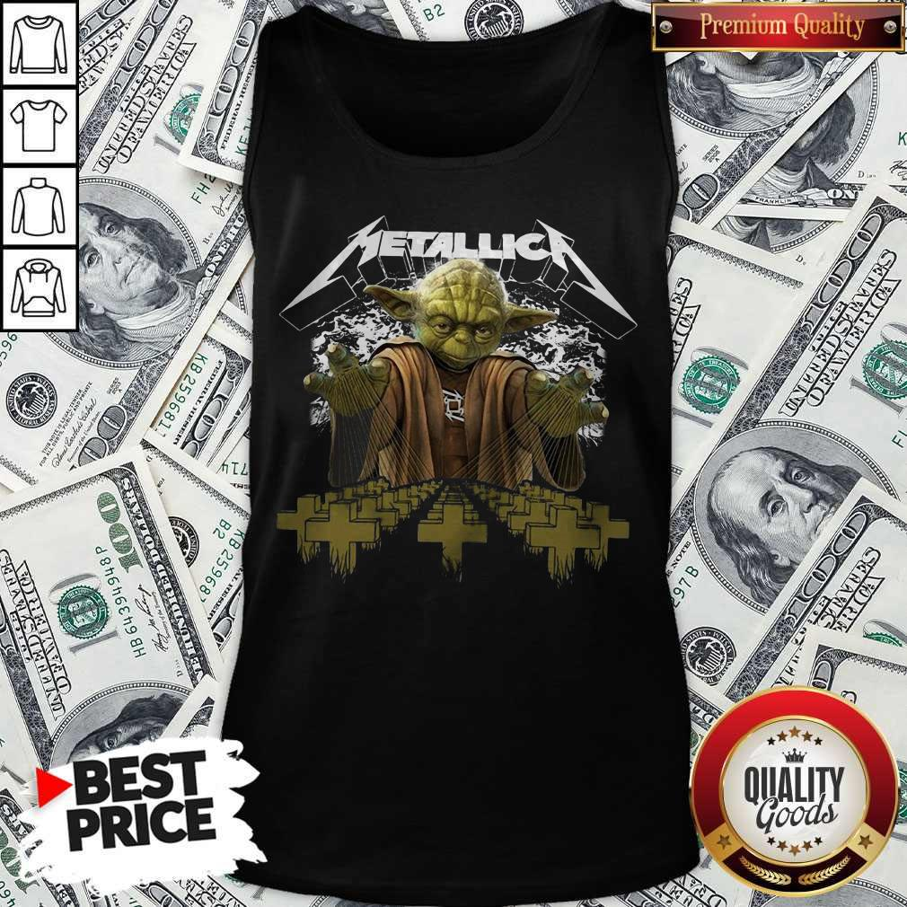 Premium Master Yoda Metallica Tank Top