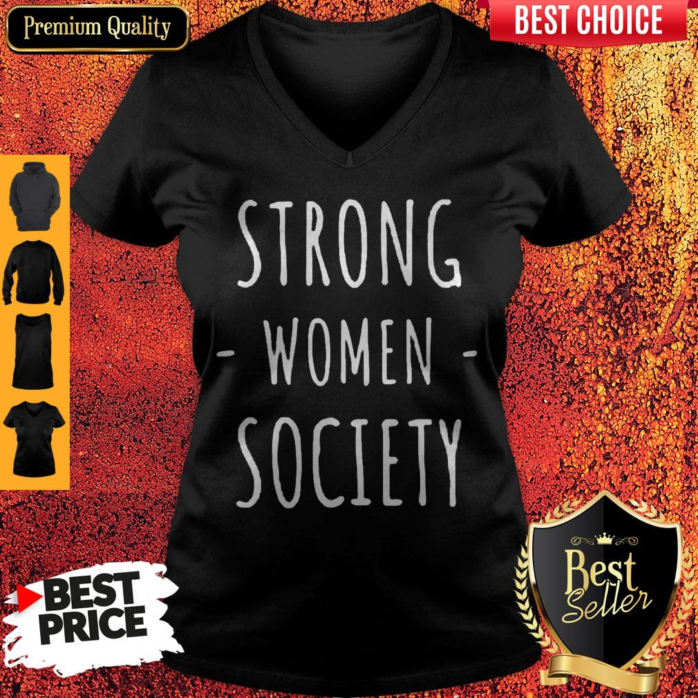 Premium Strong Women Society V-neck