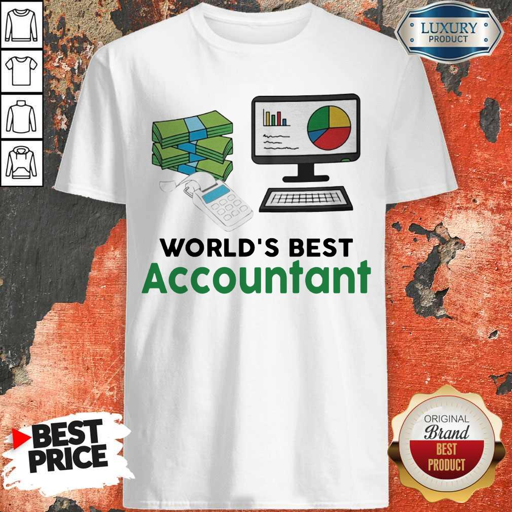Premium Worlds Best Accountatn Computer Bill Money Shirt