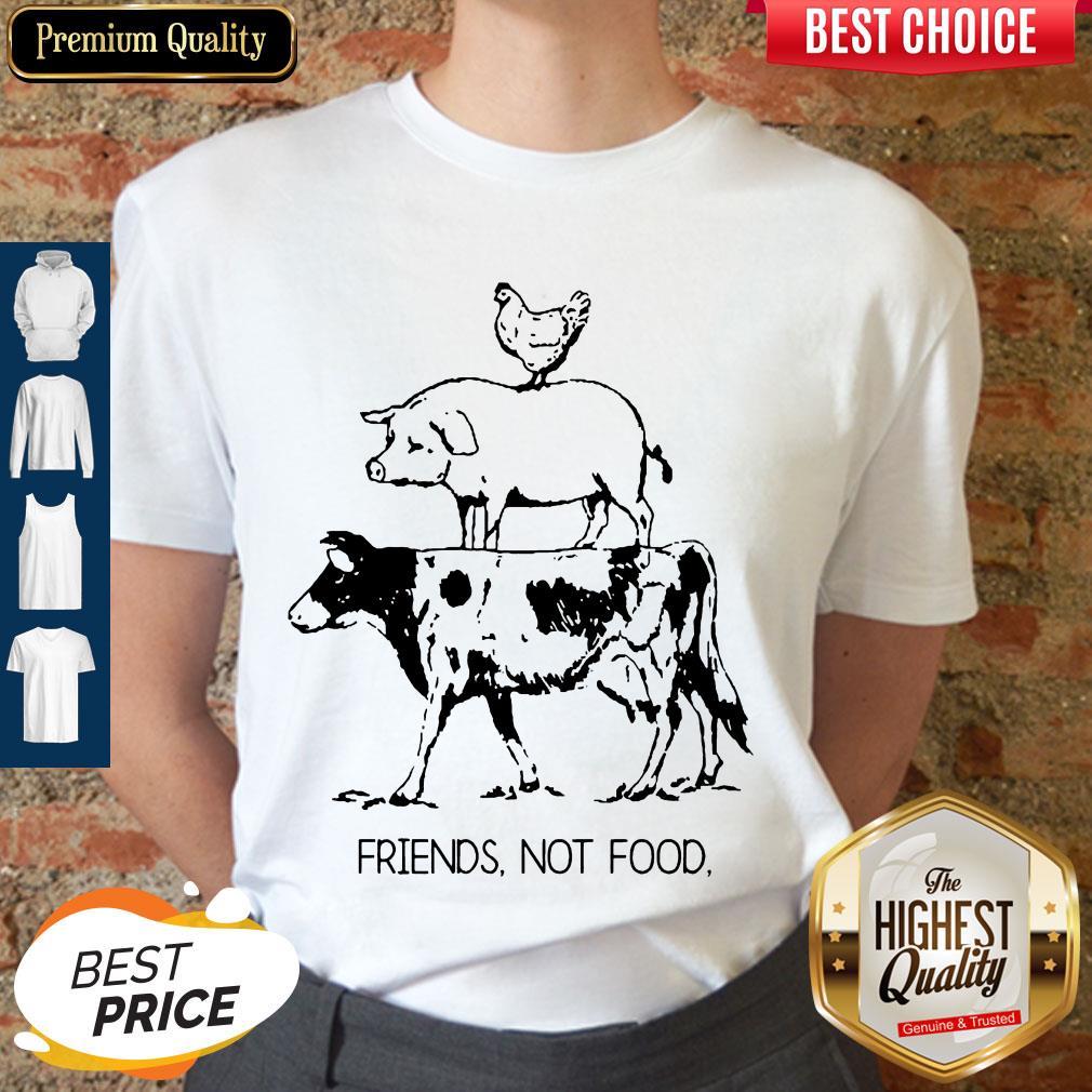 Pretty Animal Chicken Pig Cow Friends Not Food Shirt