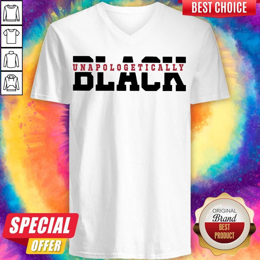 Pretty Black Unapologetically V-neck