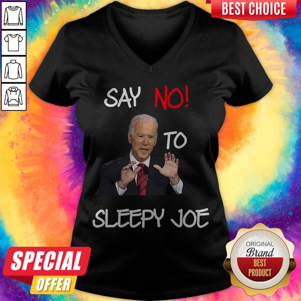 Pretty Joe Biden Say No To Sleeepy Joe V-neck