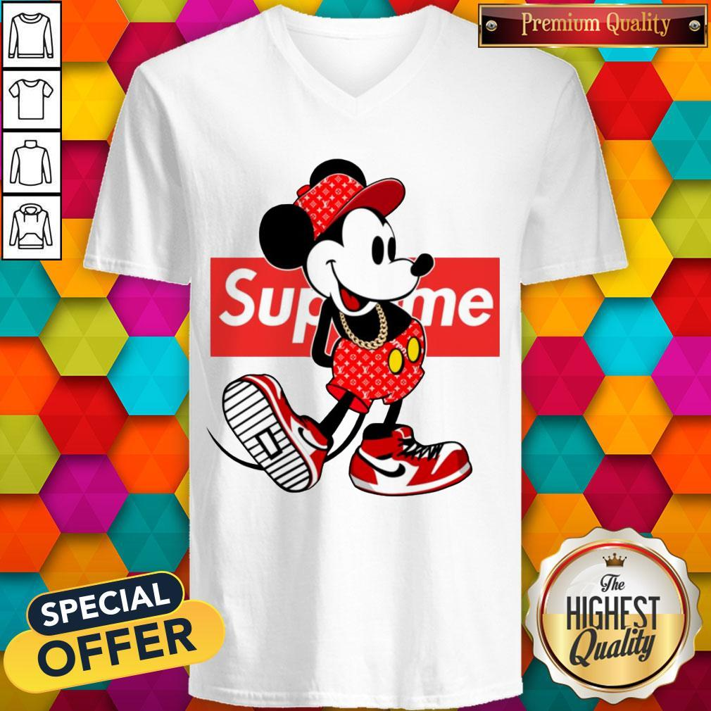 Pretty Supreme X Mickey Mouse Youth V-neck