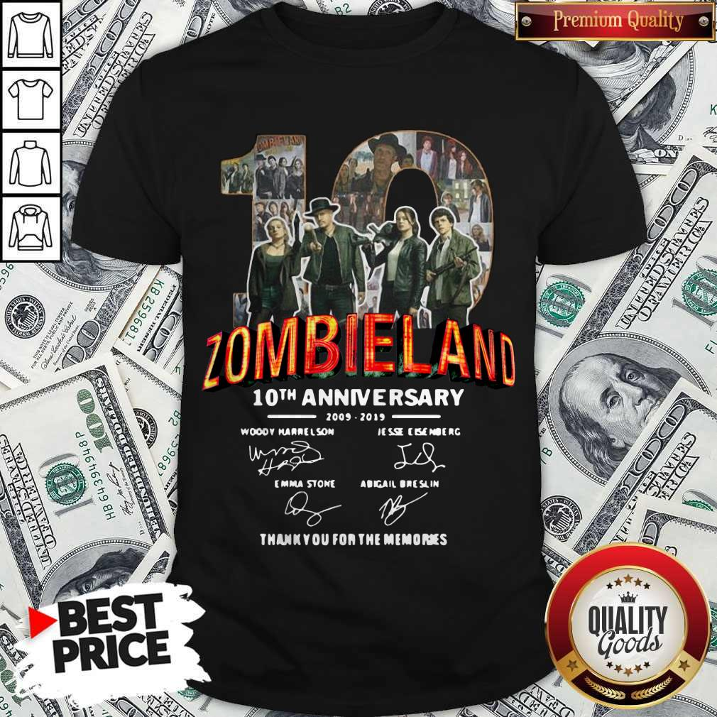 Pretty Zombieland 10th Anniversary 2009 2019 Signatures Shirt