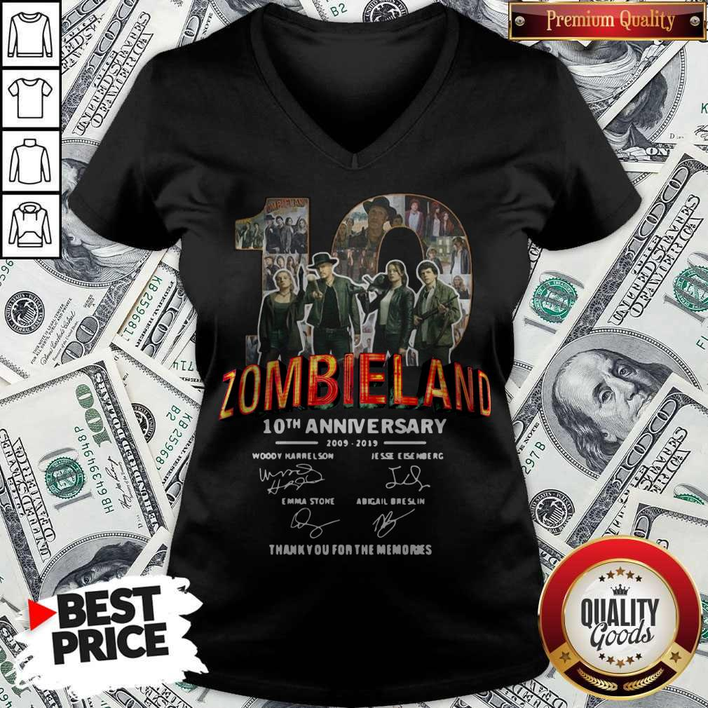 Pretty Zombieland 10th Anniversary 2009 2019 Signatures V-neck