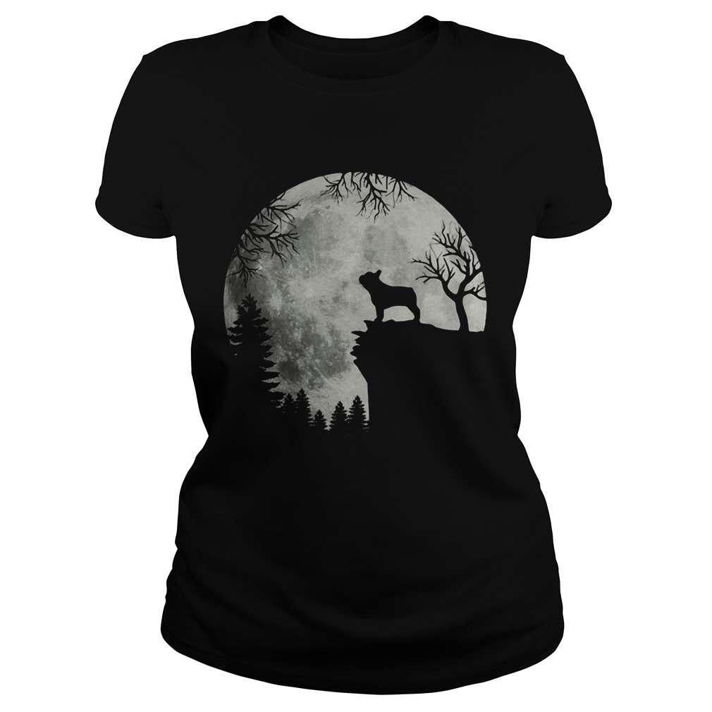 Shadow Of The French Bulldog Howling In The Moon Classic Ladies
