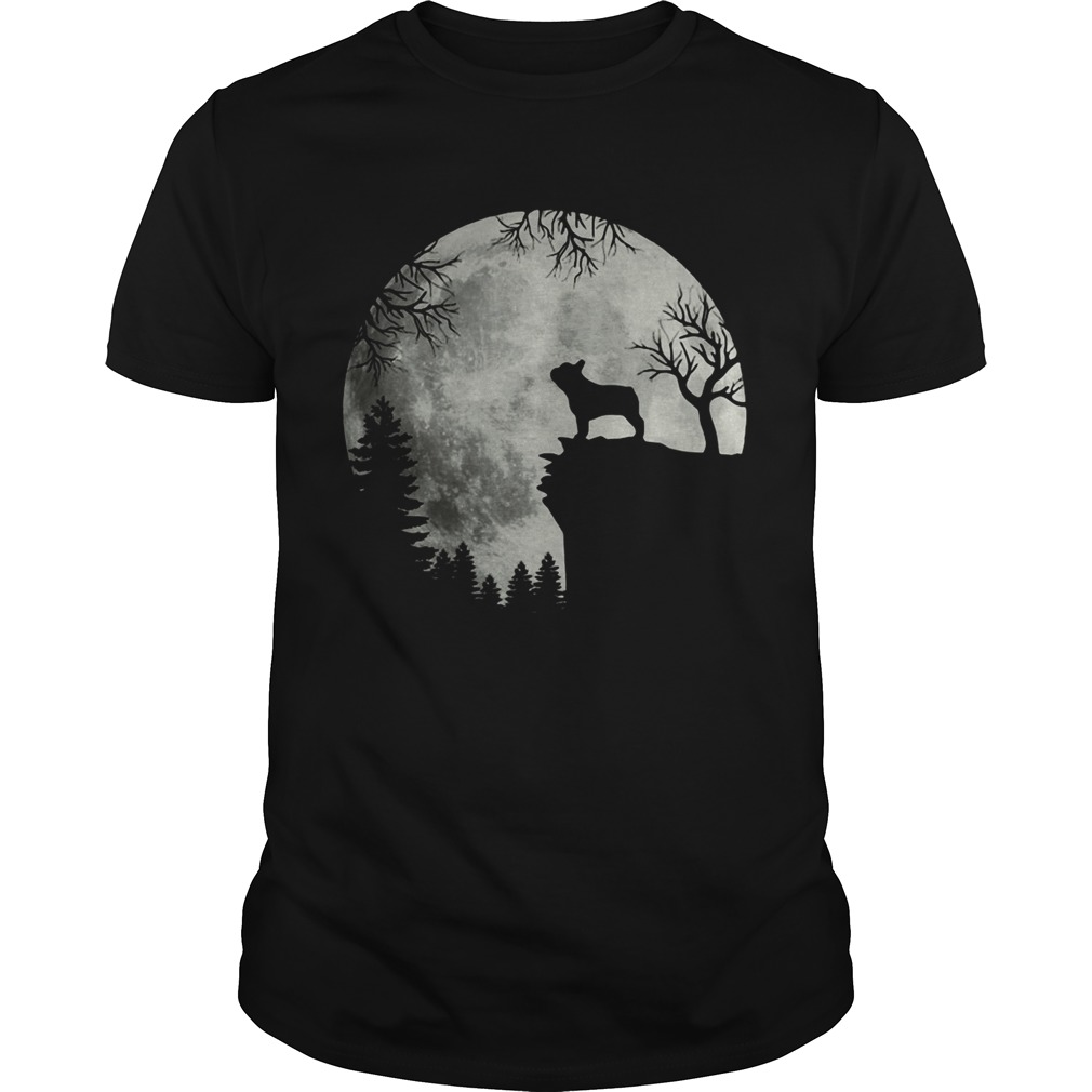Shadow Of The French Bulldog Howling In The Moon Unisex