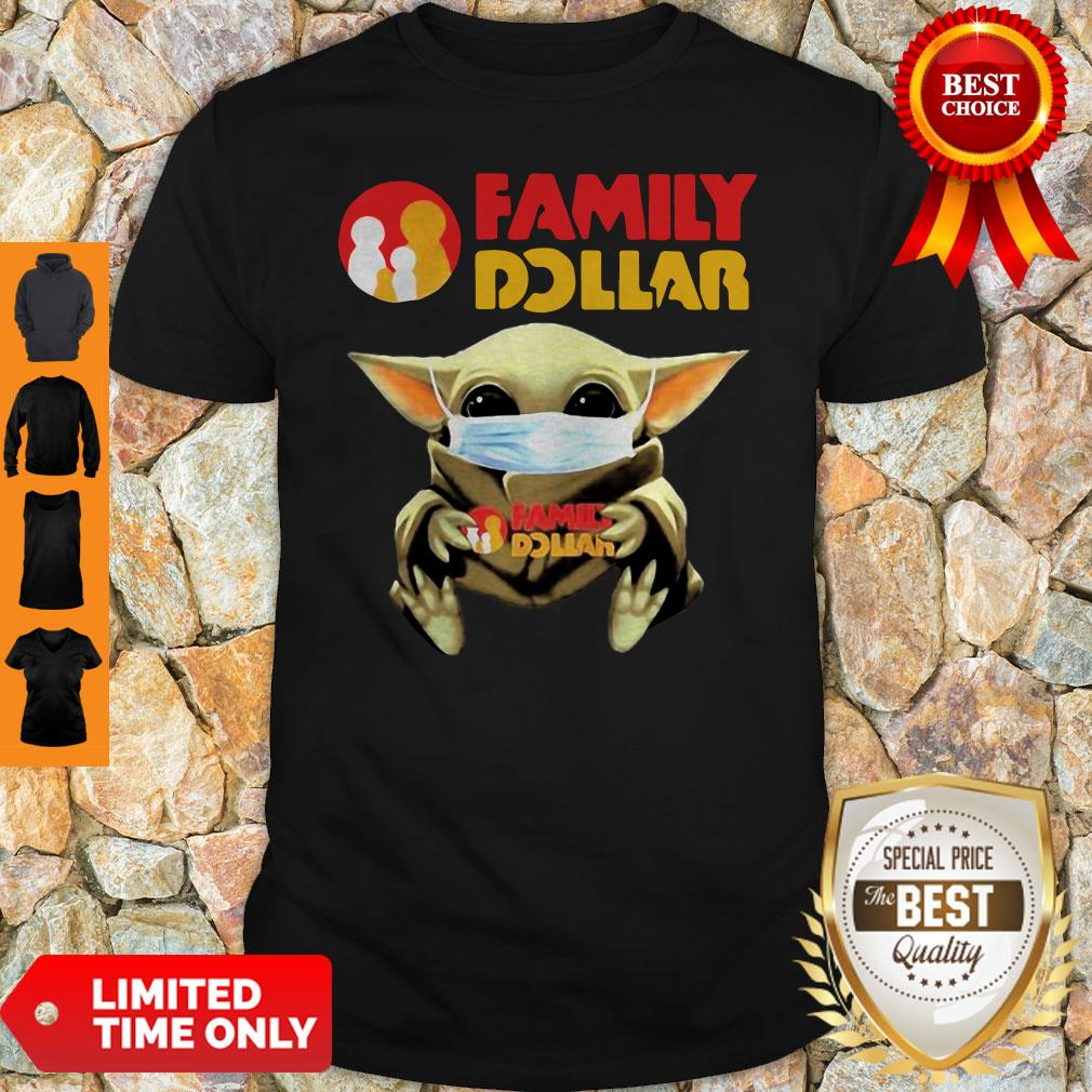 Official Mask Baby Yoda Hugging Family Dollar Shirt