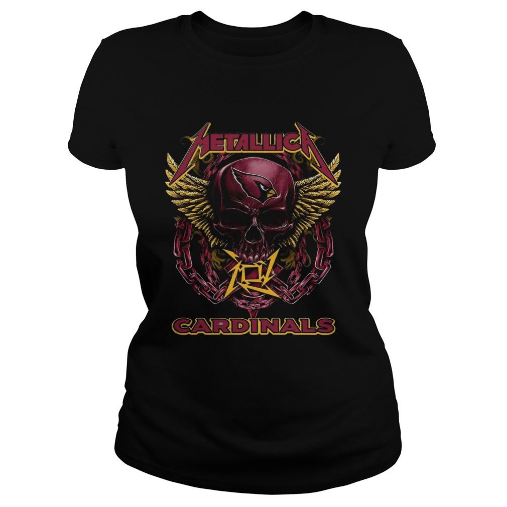 Skull Metallic Cardinals Classic Ladies
