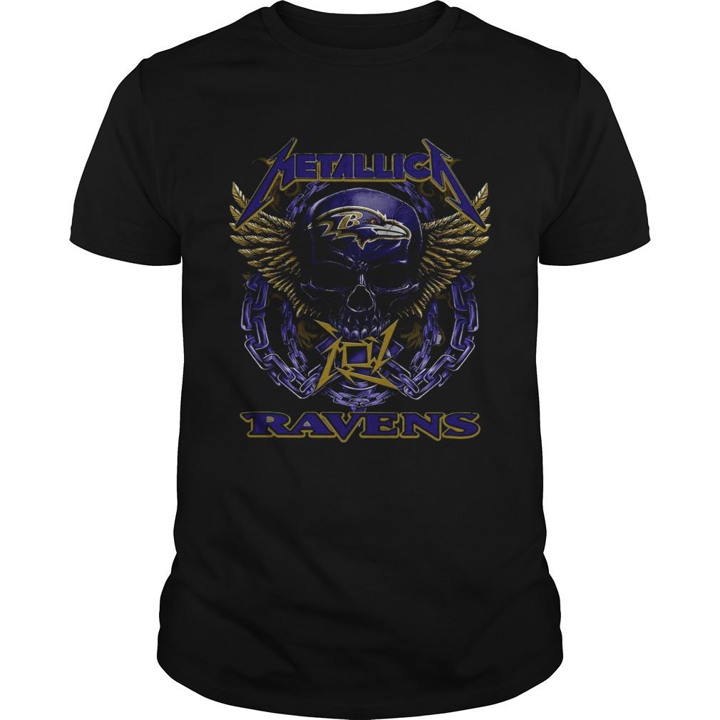 Skull Metallic Ravens Unisex