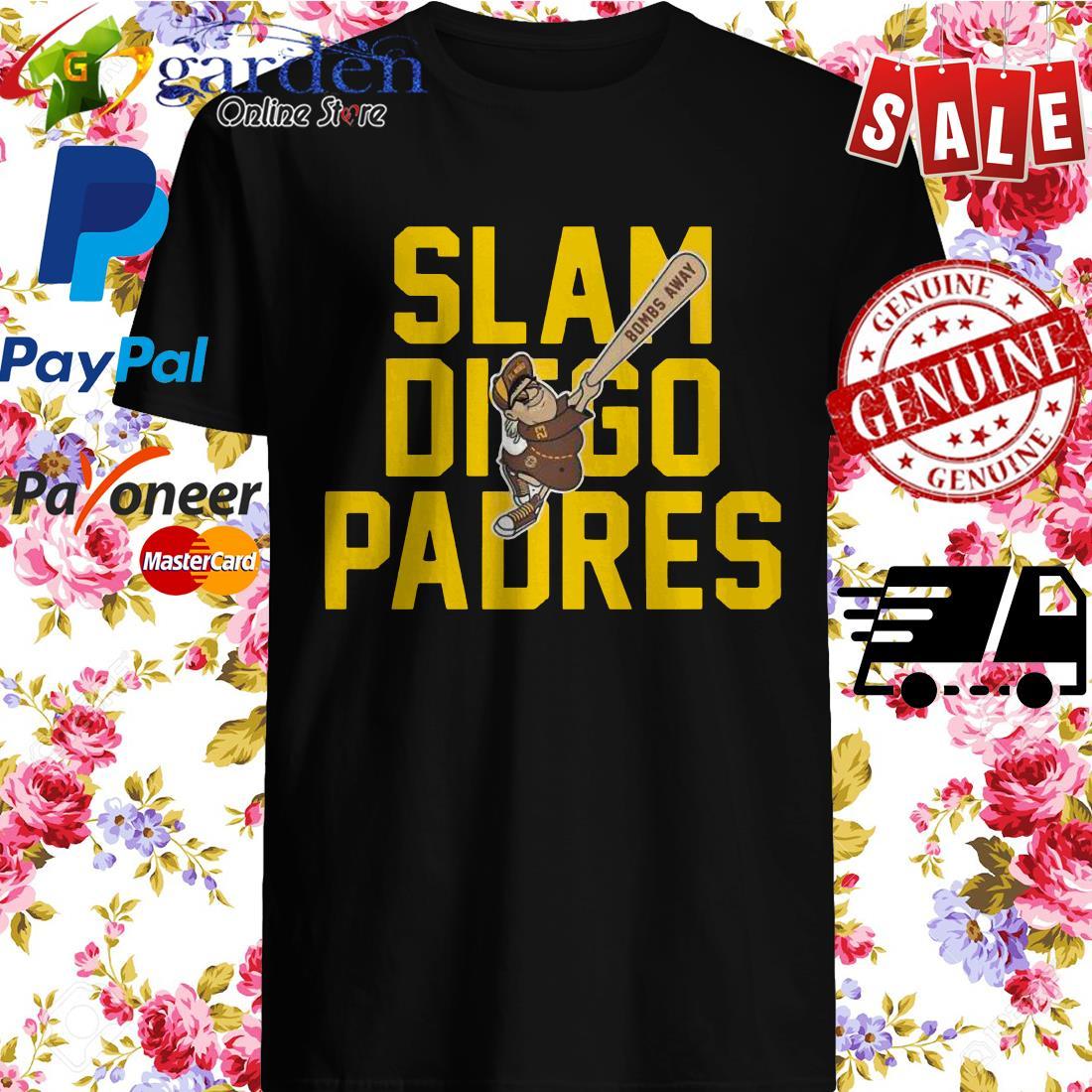 Slam Diego Padres Bombs Away Shirt