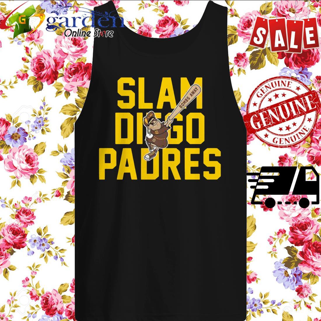 Slam Diego Padres Bombs Away tank top