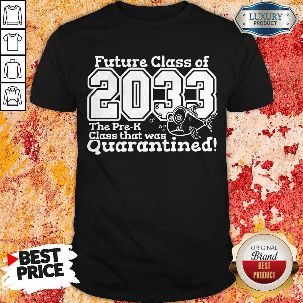 Top Future Class Of 2033 The Pre-k Class That Was Quarantined Back To School Shirt