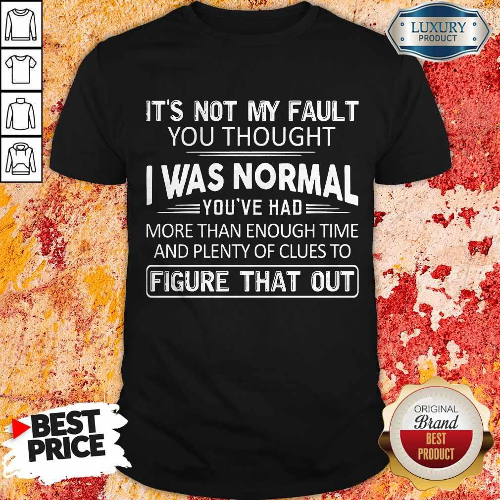Top It's Not My Fault You Thought I Was Normal You've Had Shirt