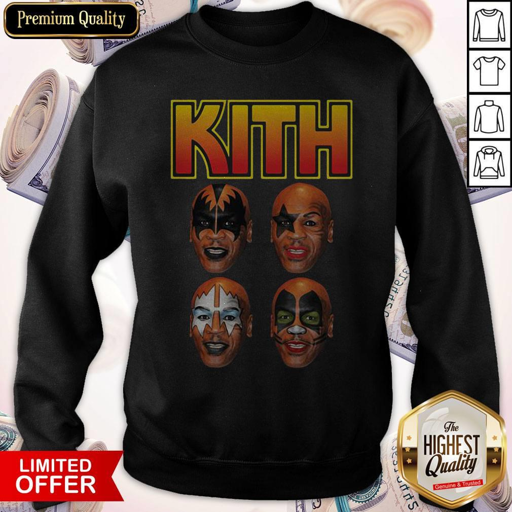 Top Kith Kiss Rock Mike Tyson Sweatshirt