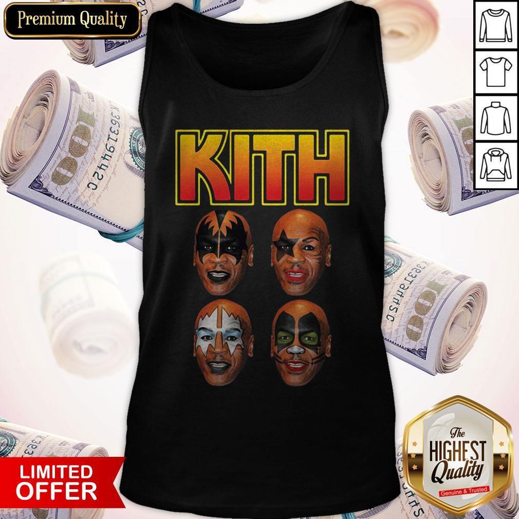 Top Kith Kiss Rock Mike Tyson Tank Top