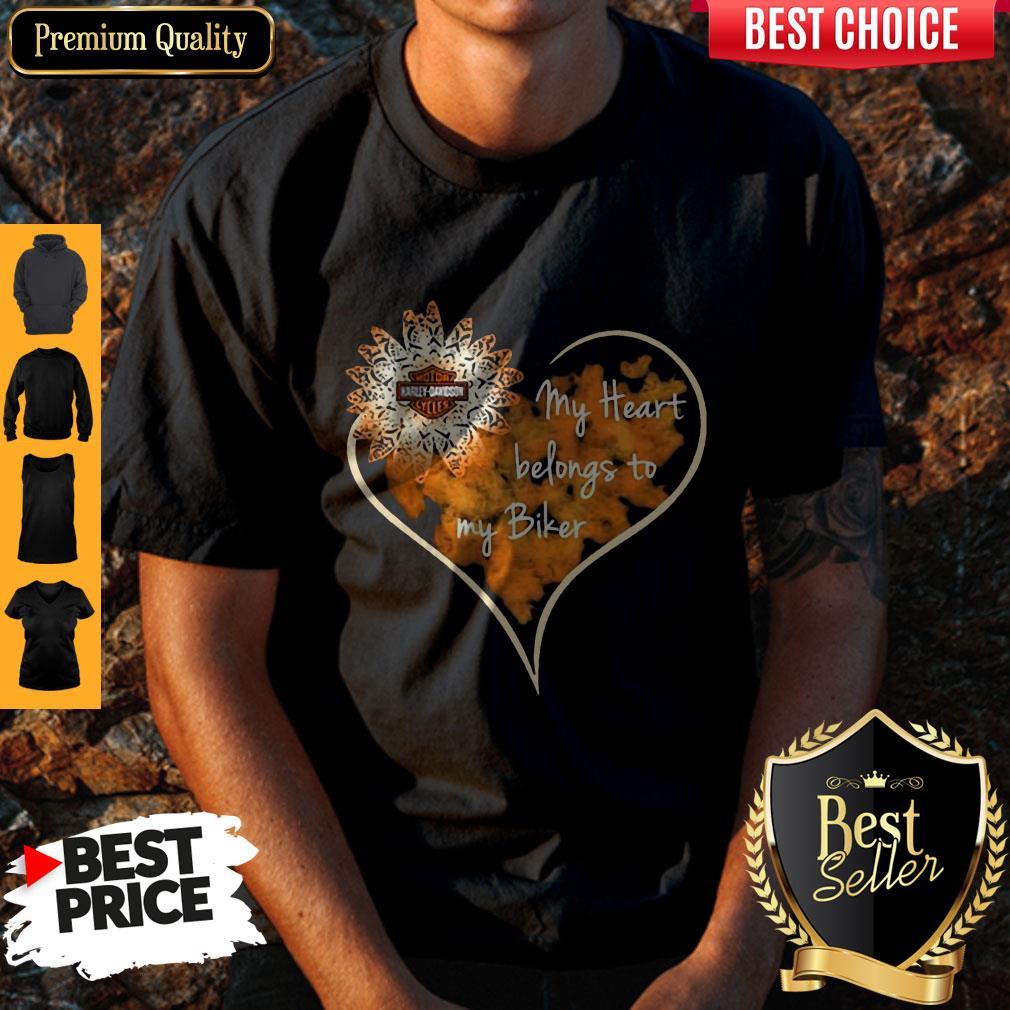Top My Heart Belongs To My Biker Shirt
