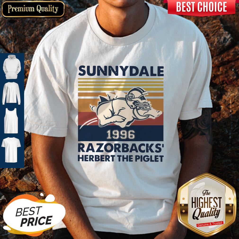 Top Sunnydale 1996 Razorbacks Herbert The Piglet Vintage Shirt