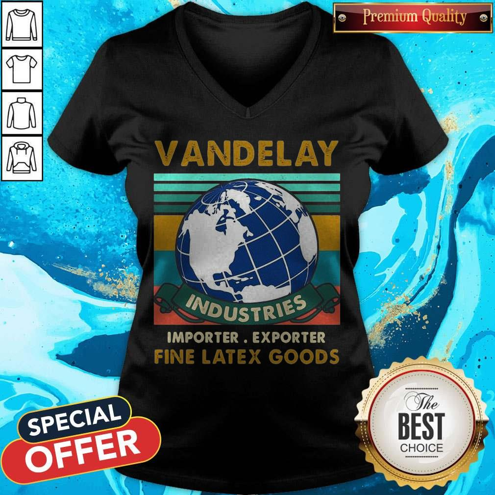 Vandelay Industries Importer Exporter Fine Latex Goods Vintage V-neck
