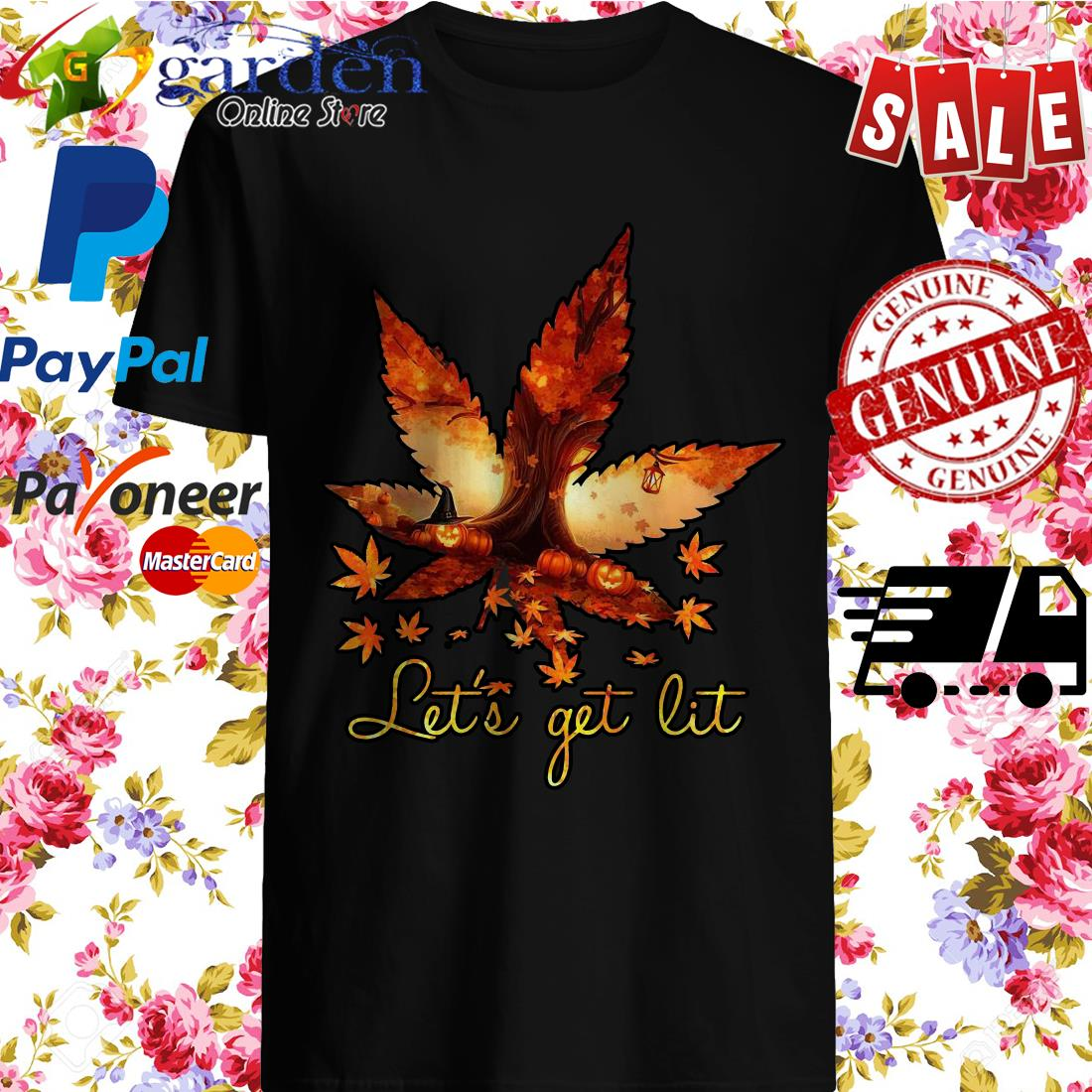 Weed Let's Get Lit Halloween Shirt
