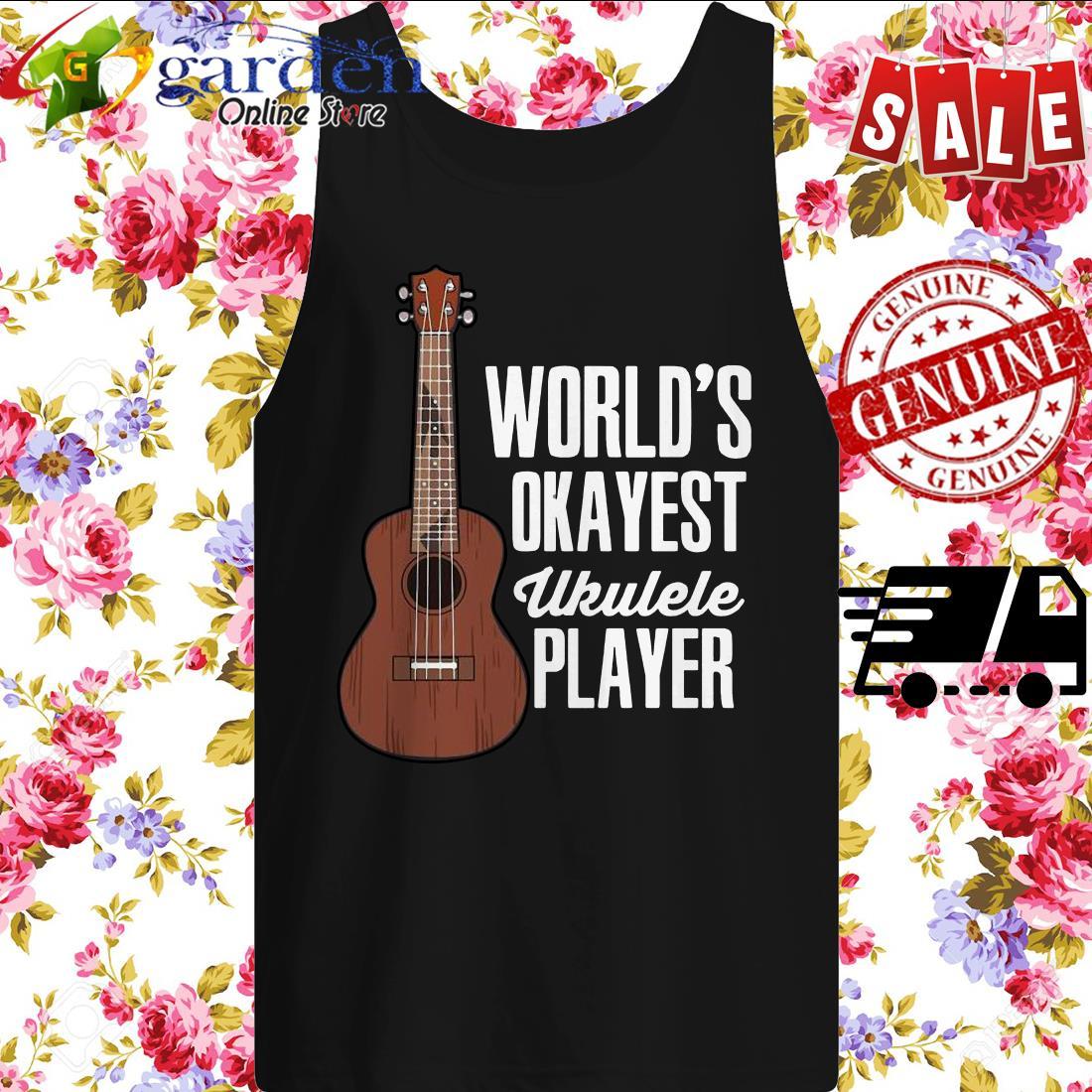 World's Okayest Ukulele Player tank top