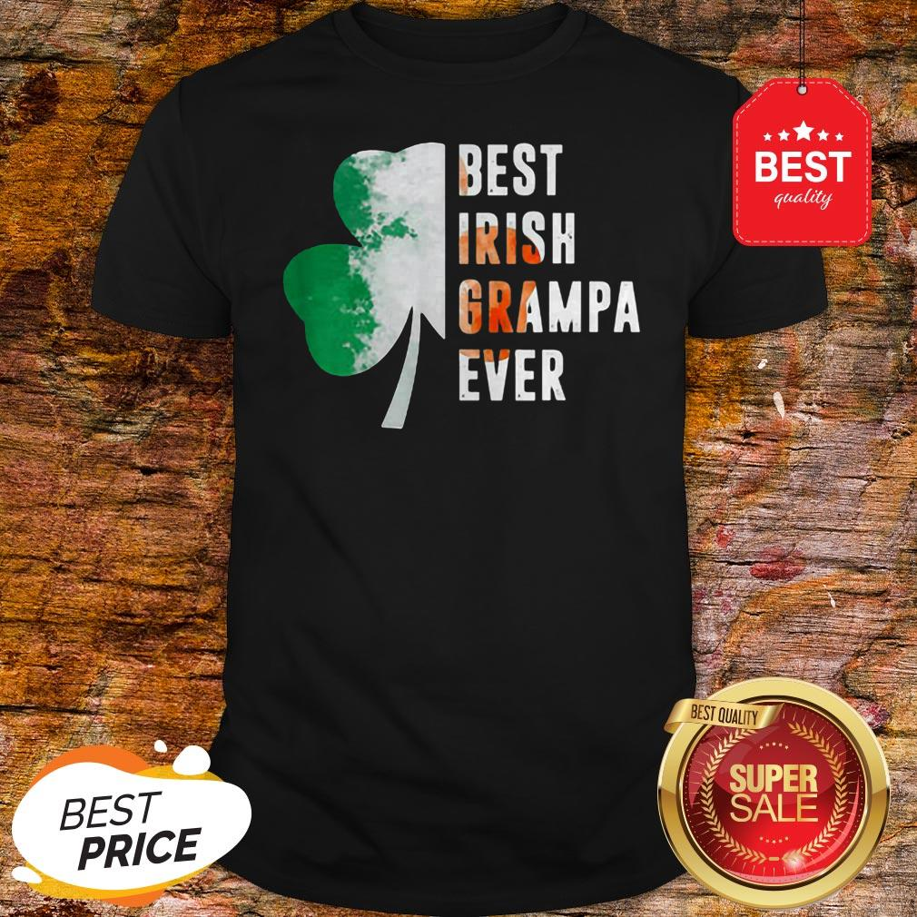 Official Best Irish Grampa Ever St. Patrick's Day Shamrock Shirt