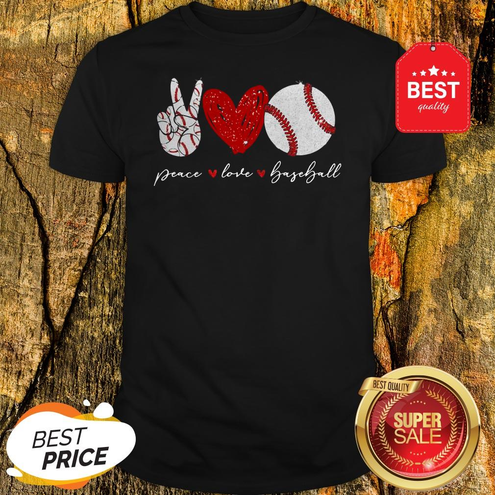 Official Diamond Peace Love Baseball Shirt