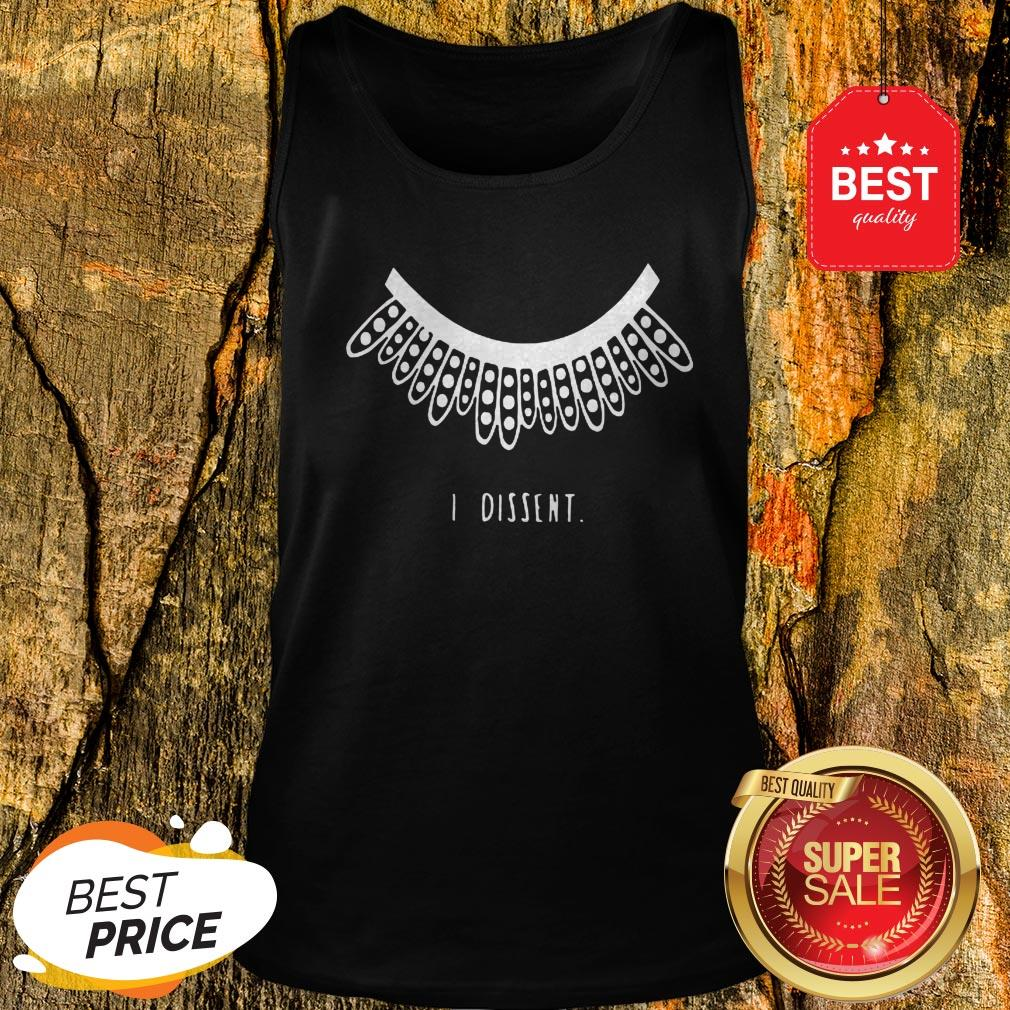Official I Dissent RGB Collar Tank Top