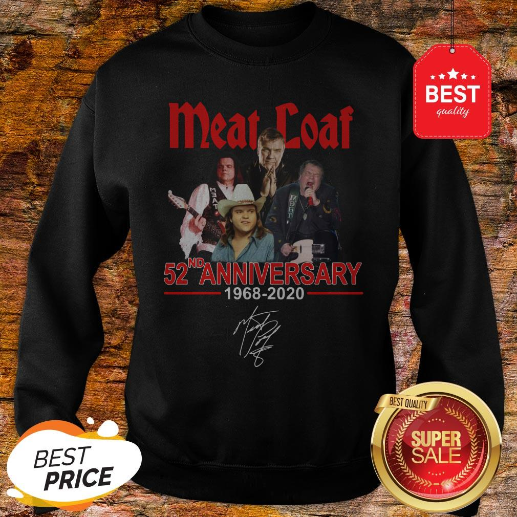Official Meat Loaf 52ND Anniversary 1968-2020 Signature Sweatshirt