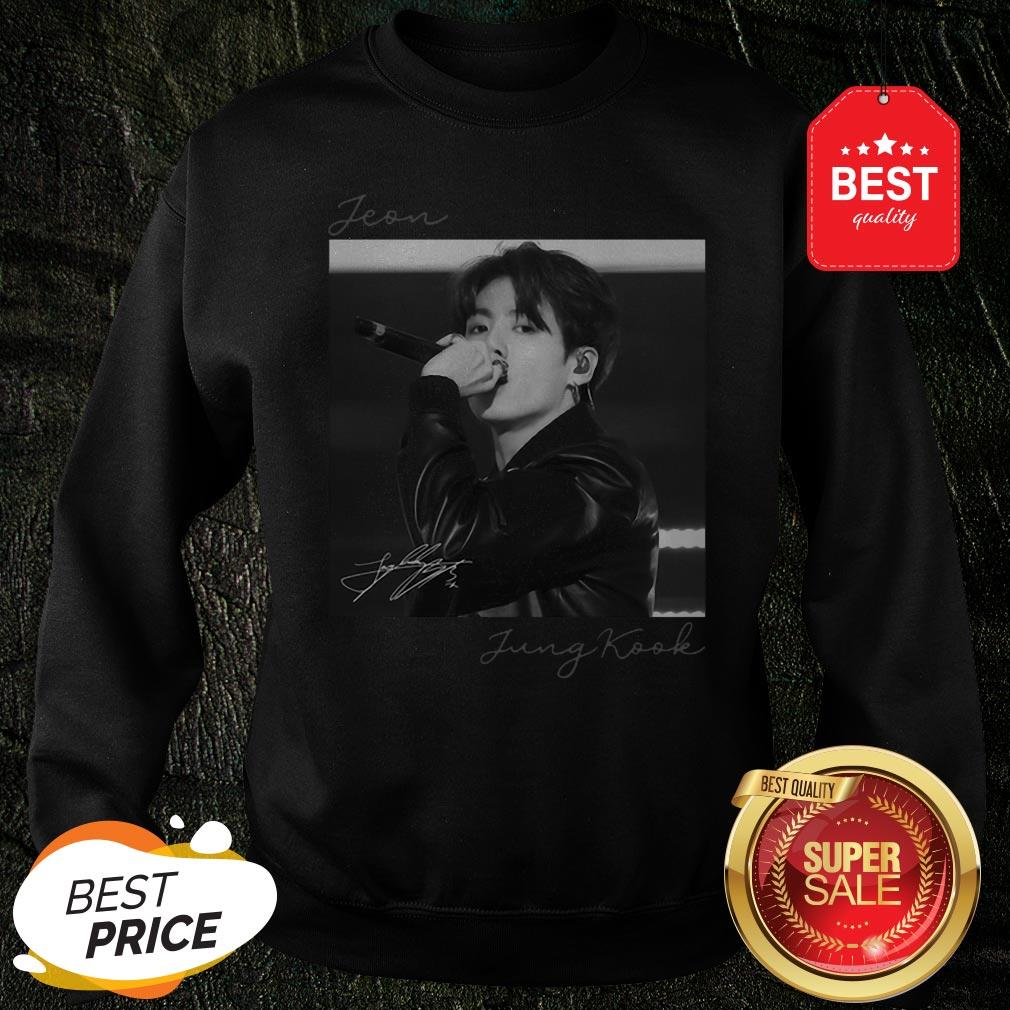 Official Jeon Jung Kook Signature BTS Bangtan Boys Sweatshirt