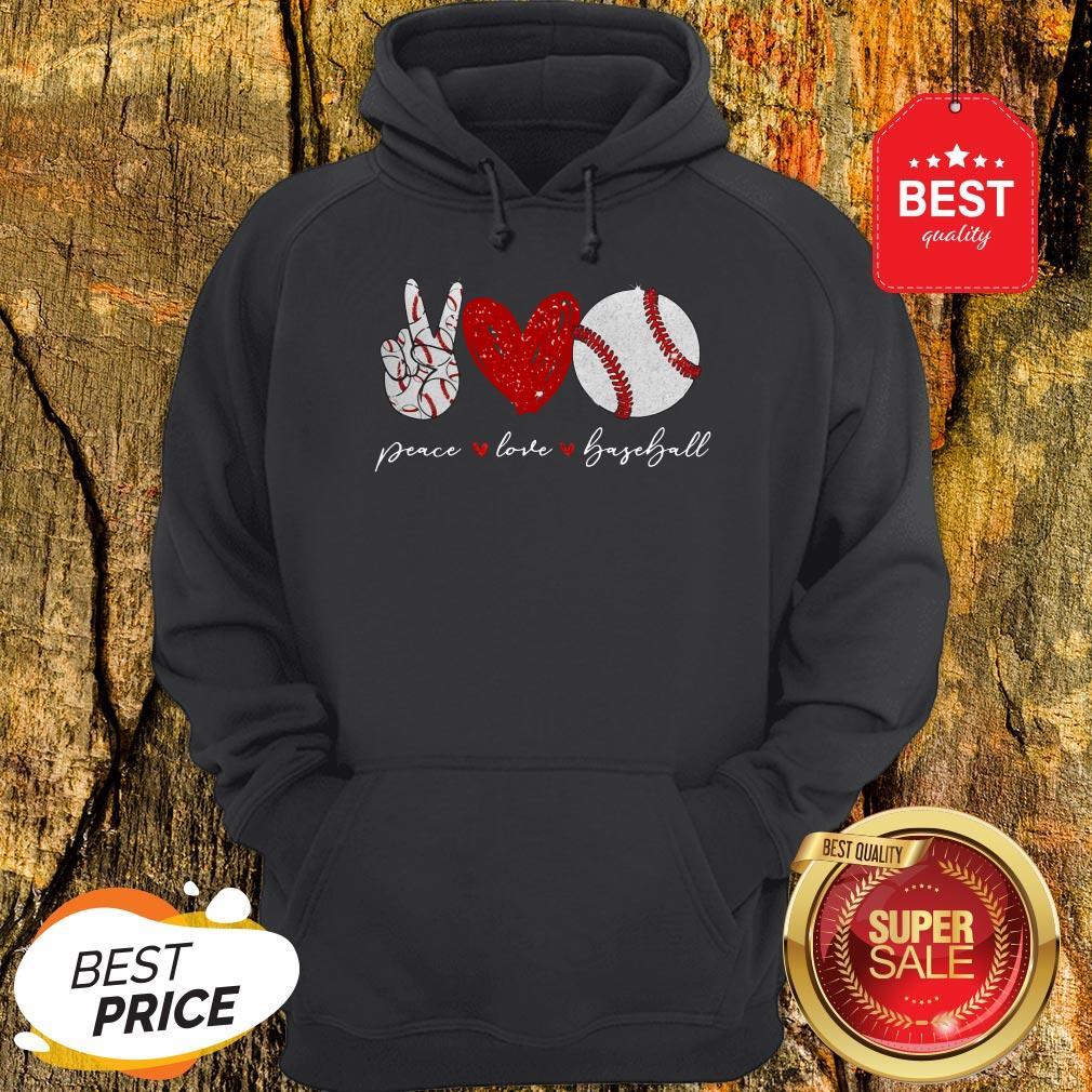 Official Diamond Peace Love Baseball Hoodie