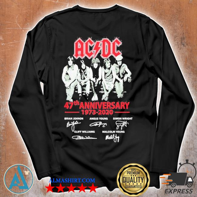 ACDC band 47th anniversary 1973 2020 signatures s Unisex longsleeve