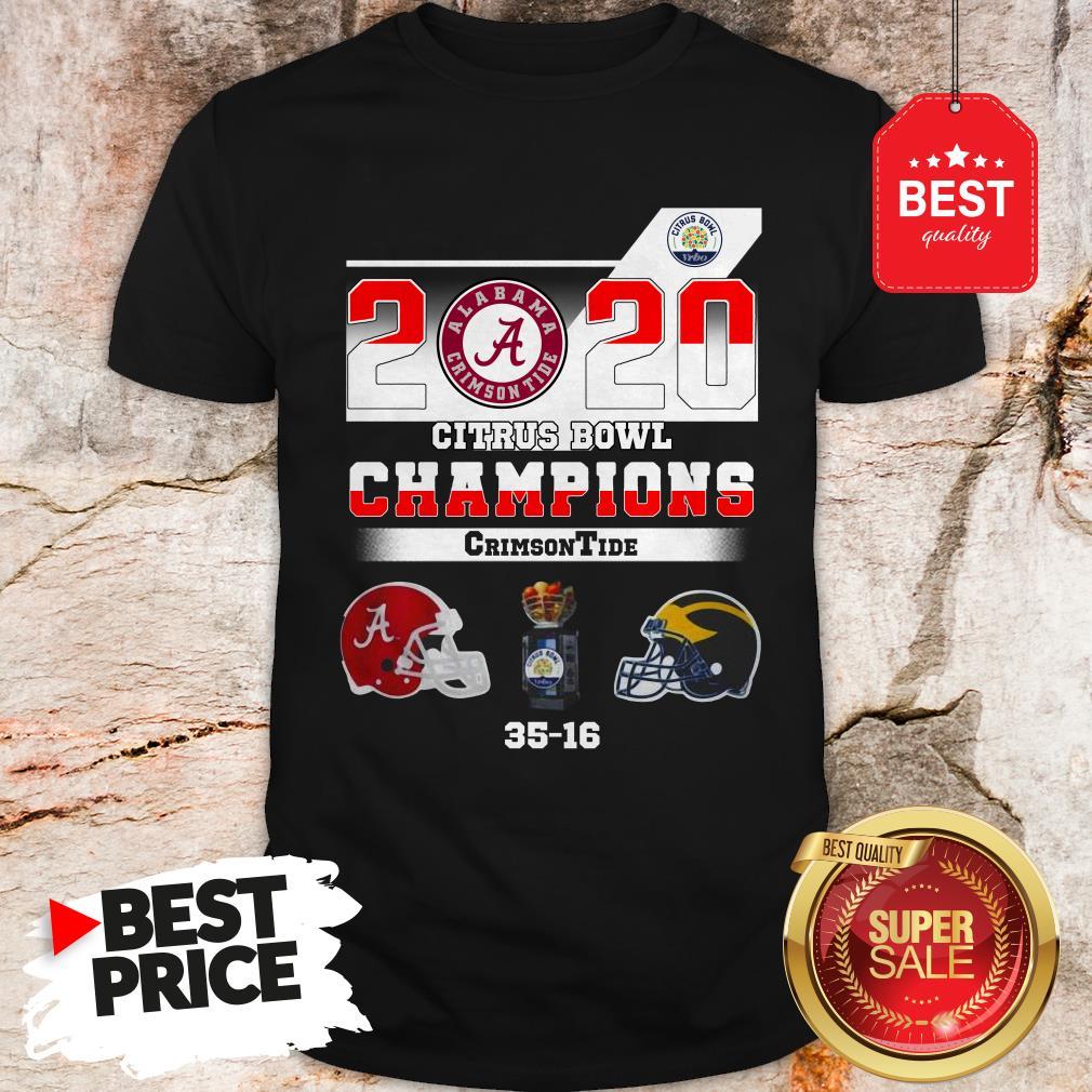 Alabama 2020 Citrus Bowl Champions Crimson Tide 35 16 Shirt