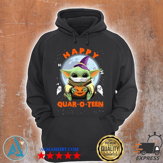 Baby yoda face mask hug pumpkin happy quarantine Quar-O-Teen s Unisex Hoodie