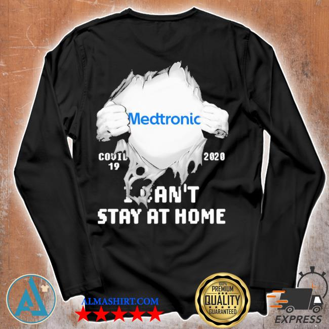 Blood insides medtronic covid-19 2020 I can't stay at home s Unisex longsleeve