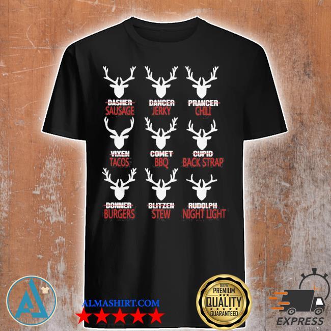 Deer sausage jerky chili tacos bbq shirt