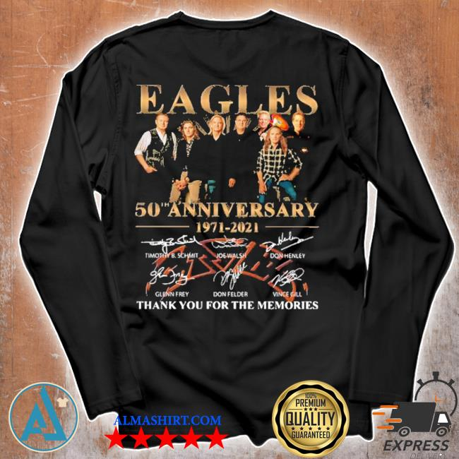 Eagles 50th anniversary 1971 2020 thank you for the memories signatures s Unisex longsleeve