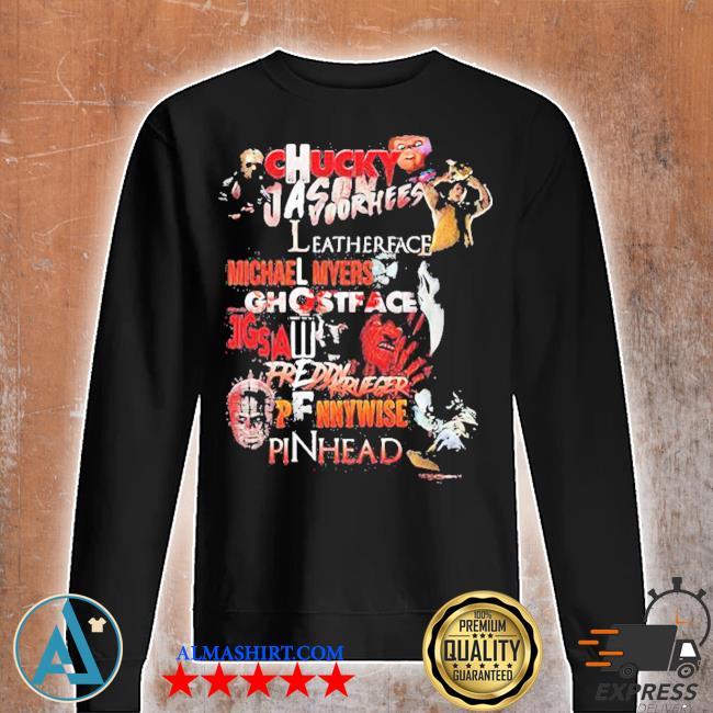 Halloween chucky jason voorhees leatherface michael myers ghostface jigsaw freddy krueger pennywise pinhead s Unisex sweatshirt