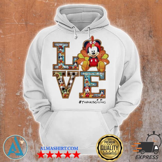 Mickey mouse love thanksgiving s Unisex Hoodie