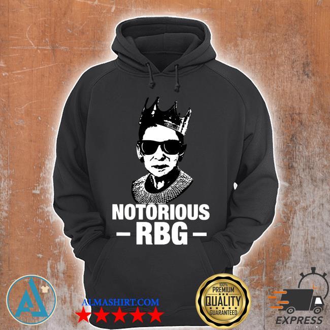 Notorious RBG ruth bader ginsburg shirt white Unisex Hoodie