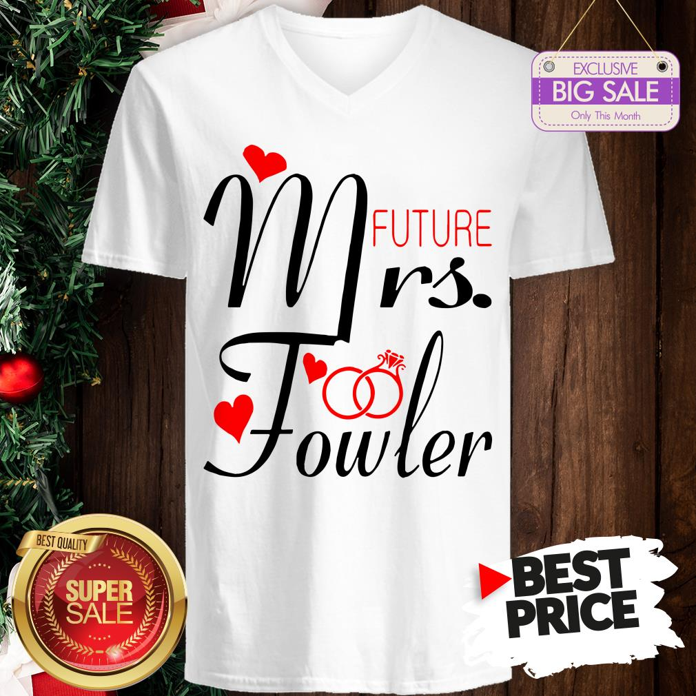 Official Mrs Future Fowler Bride To Be Valentine V-Neck